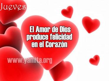 Jueves El amor de Dios produce felicidad en el corazón – Facebook