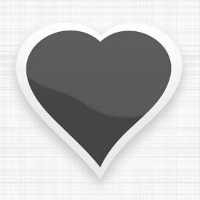Corazón de color negro.png