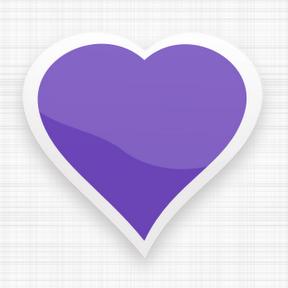 Corazón de color violeta.png