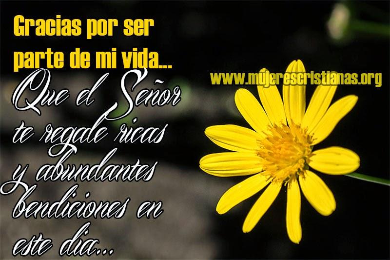 Gracias por ser parte de mi vida - Facebook - Imagenes Cristianas ...