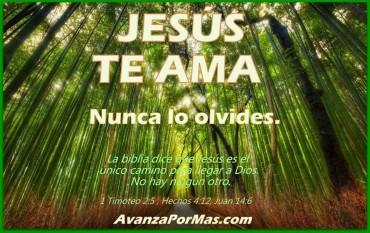 Imágenes cristianas con versículos Jesús te ama