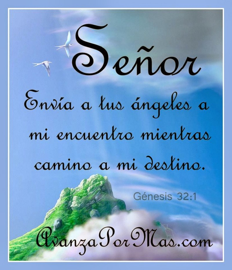 Imágenes cristianas con versículos Señor envía a tus ángeles a mi encuentro