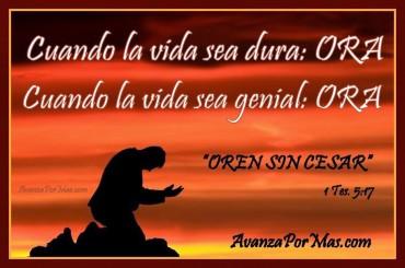 Imágenes cristianas con versículos Oren sin cesar