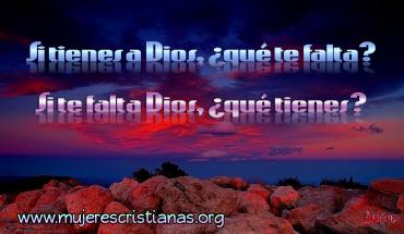Si te falta Dios, ¿qué tienes? – Facebook