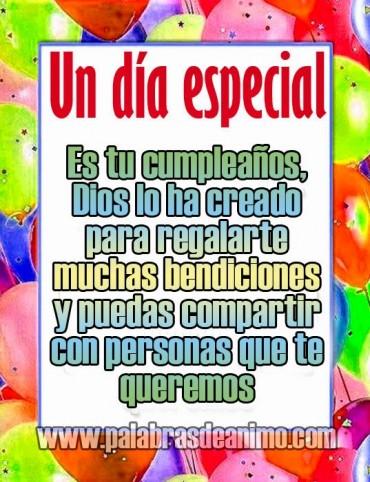 Un dia especial es tu cumpleaños