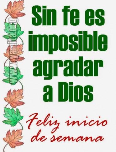 Sin fe es imposible agradar a Dios – Facebook