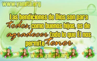 Las bendiciones de Dios son para TODOS – Facebook