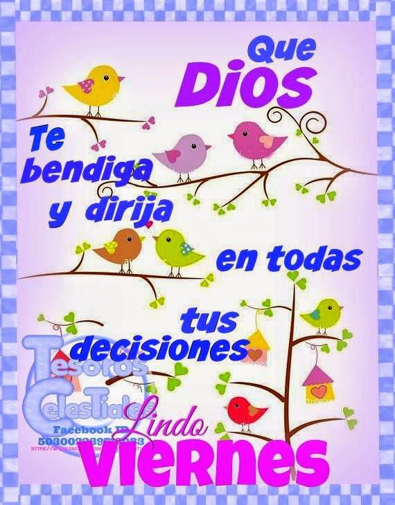 Que Dios te bendiga, Lindo Viernes – Facebook