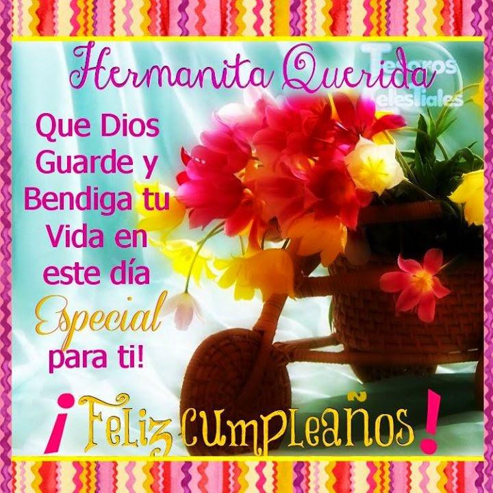 Hermanita querida Feliz Cumpleaños – Facebook