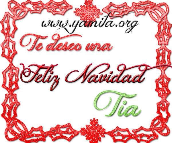 Te deseo una Feliz Navidad Tia – Hi5