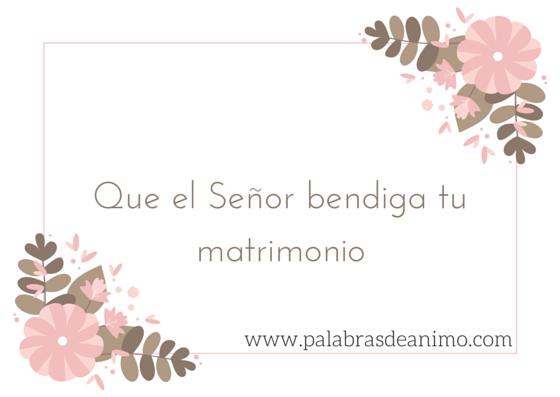Que el Señor bendiga tu matrimonio – Facebook