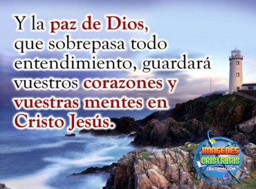Dios te ama que Él te llene con Su paz