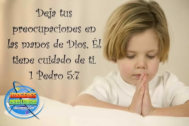 Deja tus preocupaciones en manos de Dios