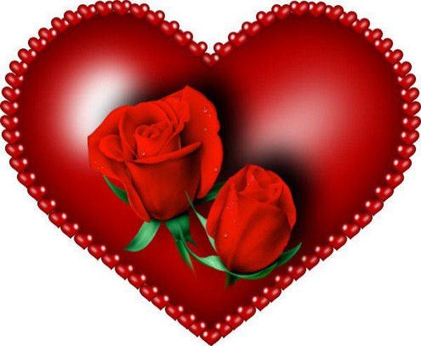 imagen de un corazon con rosas rojas dentro