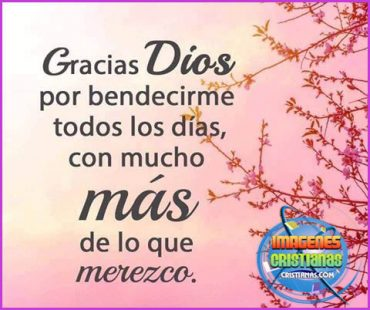 Gracias Dios por el nuevo día